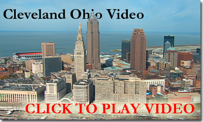 aerial video cleveland ohio and browns stadium